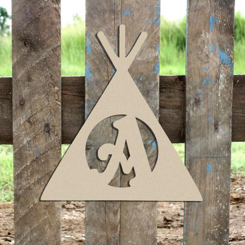 Teepee Monogram Beltorian Letter Wooden - Unfinished  DIY Craft