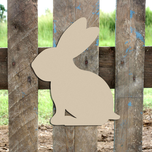 Woodland Bunny, Unfinished Cutout, Wooden Shape,  Paintable MDF DIY