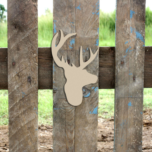 9pt Deer Unfinished Cutout, Wooden Shape, Paintable Wooden MDF DIY