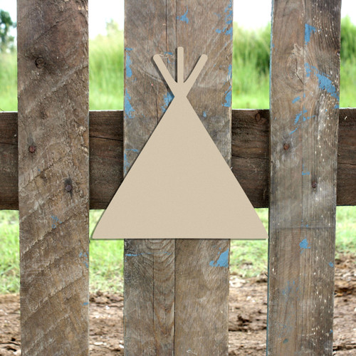 Teepee W/OUT Door Unfinished Cutout, Wooden Shape, Paintable Wooden MDF DIY Craft