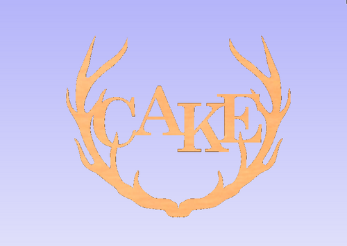 Wide Antler Block Cake Unfinished Cutout, Wooden Shape, MDF DIY Craft