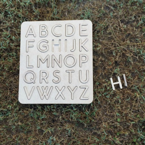 Alphabet Learning Puzzle, Unfinished Puzzle