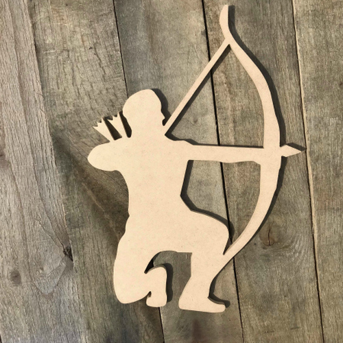 Archery Shooter Wooden Sport Shape Wooden Craft Unfinished MDF