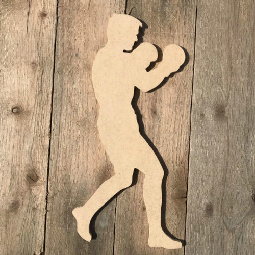 Boxer Southpaw Boxing Wooden Sport Shape MDF Wooden Cutout