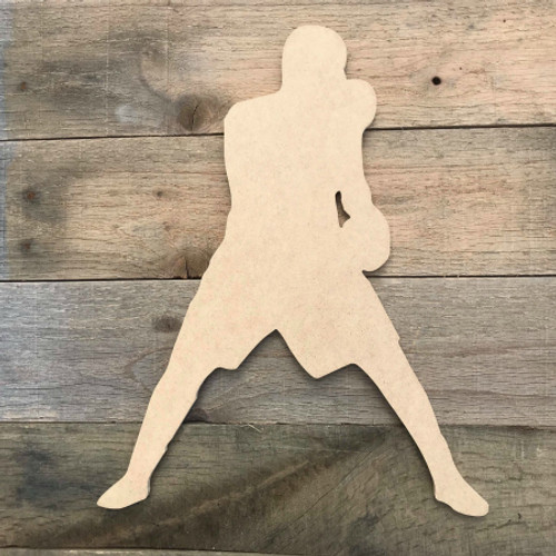 Boxer Boxing Fighting Sport Wood MDF Paintable Cutout