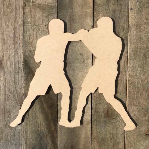 Boxing Match Fighting Sport Wood Shape Unpainted MDF