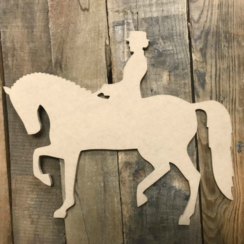 Equestrian Horse Riding Unfinished Wooden Sport Shape