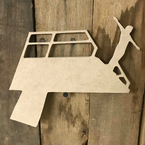 Diving Board Swimmer Unfinished Sport Craft Wooden