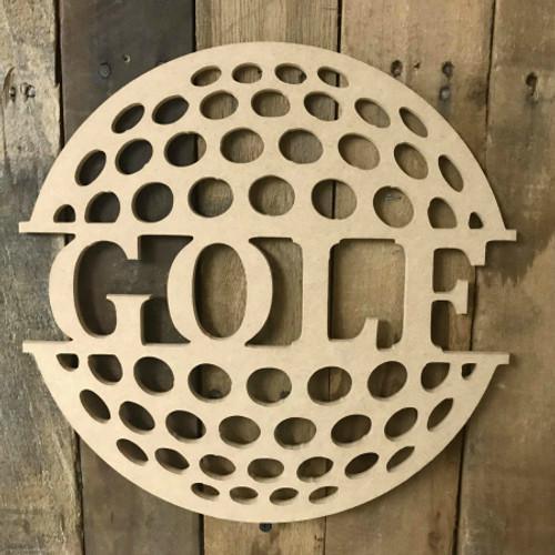 Golf Name Frame Unfinished Framed Monogram
