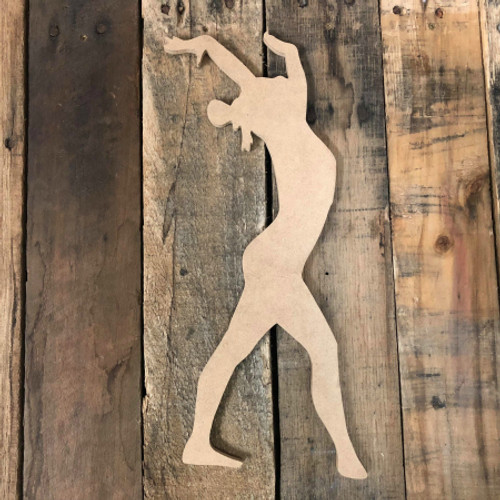 Gymnast Unfinished Cutout Gymnastics Wood Shape