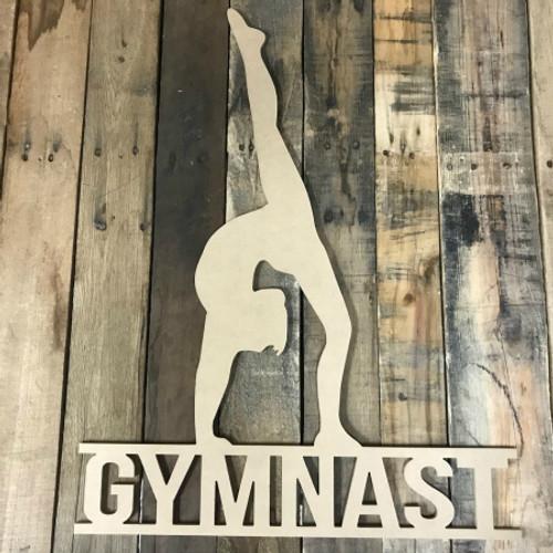 Gymnastics Frame Unfinished Framed Monogram