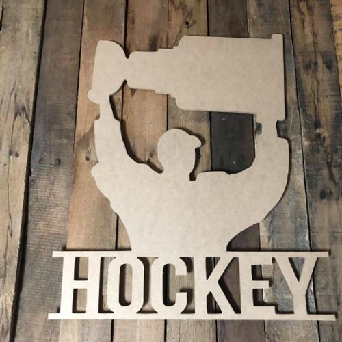 Hockey Championship Stanley Cup Frame Unfinished Framed Monogram