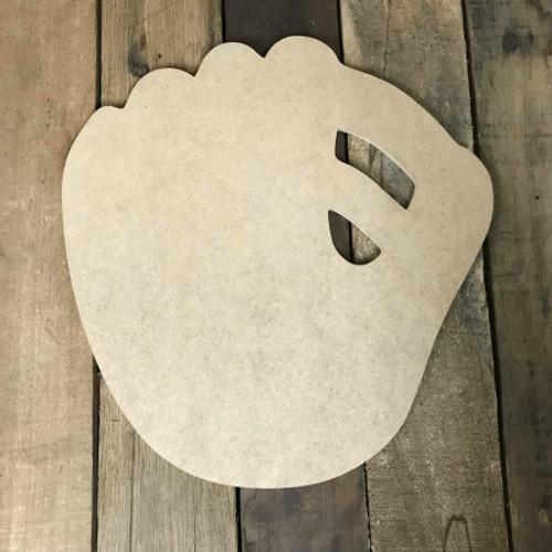 Baseball Glove Unpainted Unfinished Wooden Craft Decor Wooden Cutout