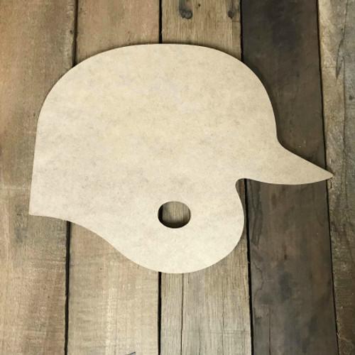Baseball Player Helmet Unfinished Wooden Craft Decor Wood Cutout MDF