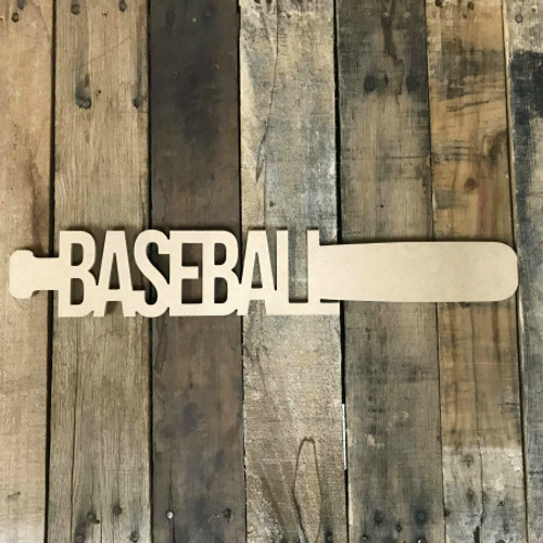 Baseball Bat 2 Frame Unfinished Framed Monogram