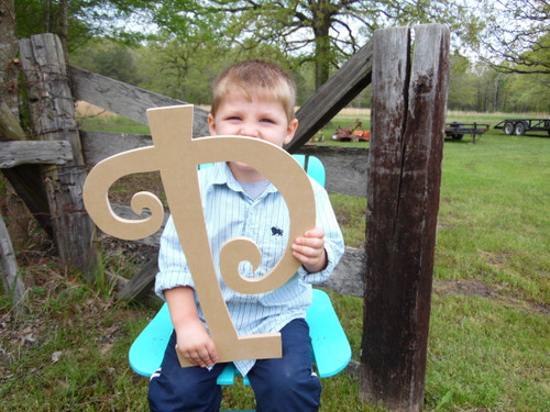 Wooden Craft Letters Wooden Letters for Names (P) Curlz Wooden Initial