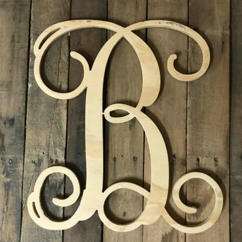 Vine Pine Letters, Monogram Letters, Custom Vine Font