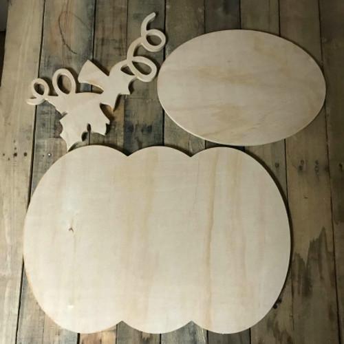 Pumpkin, Unfinished Pumpkin Set, White Pine, Photo Prop