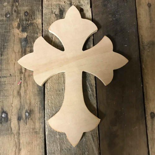 Paintable Wall Hanging Cross, Wooden Unfinished Cross Pine (33)