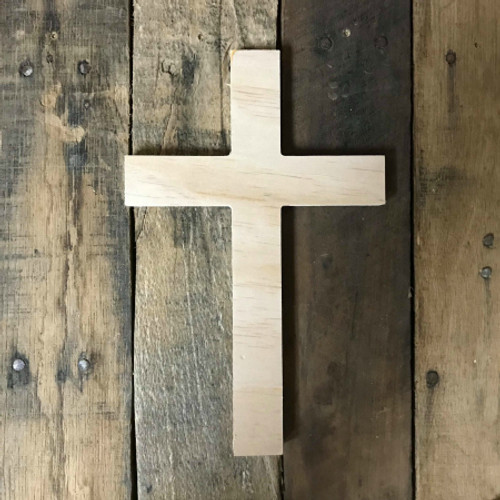 Unfinished Wooden Wall Hanging Cross, Wall Craft Pine (44)