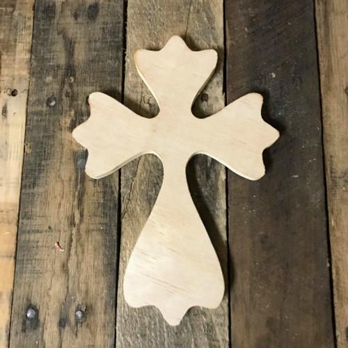 Wood Cross, Unpainted Wooden Wall Craft, VBS Pine (52)