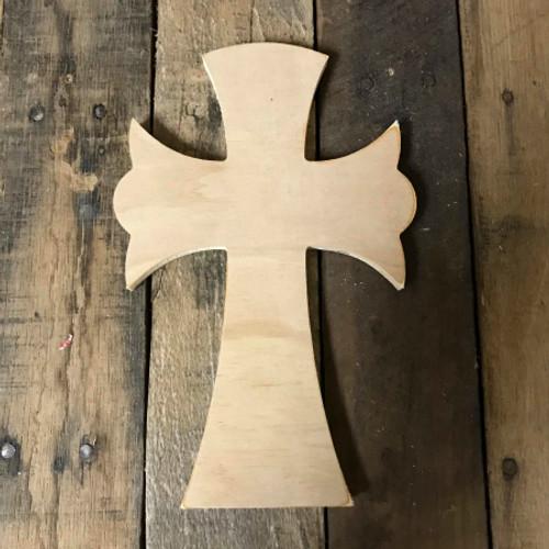 DIY Wall Cross, Paintable Wooden Cross, MDF Cross Pine (67)