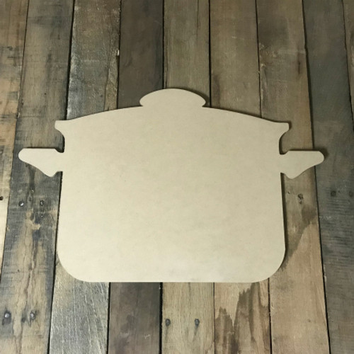 Cooking Pot,  Craft Unfinished Wood Shape, Wood Cutout