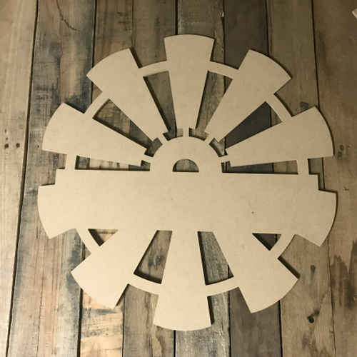 Whole Windmill, Frame Unfinished Cutout MDF