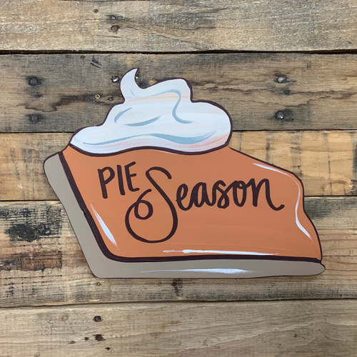Pumpkin Pie 2, Craft Unfinished Wood Shape, Wood Cutout