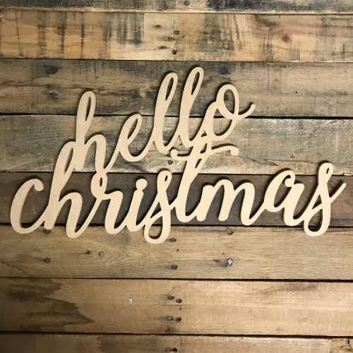 Script Hello Christmas, Alphabet Paintable DIY