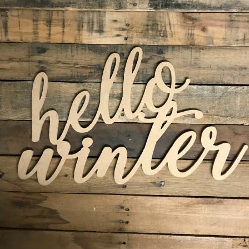 Script Hello Winter, Alphabet Paintable DIY