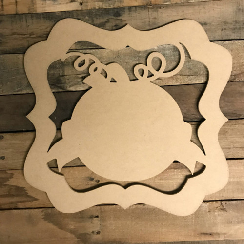 Pumpkin with Banner and Border Wooden (MDF) Cutout - Unfinished