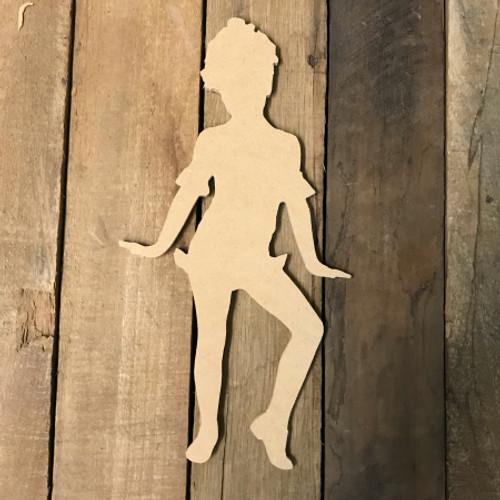 Wood MDF Dancing Shape, Wooden Dance Paintable Shape