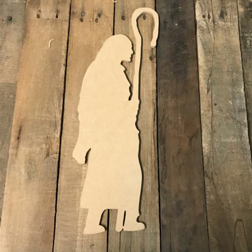 Wooden Nativity Scene Cutout, Wooden Paintable Shape
