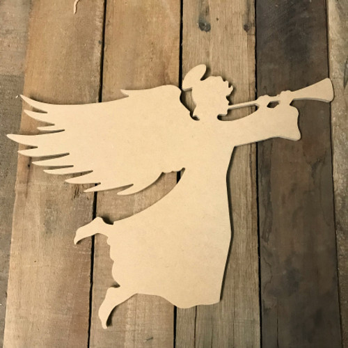 Wooden Angel Cutout, Wooden Paintable Shape