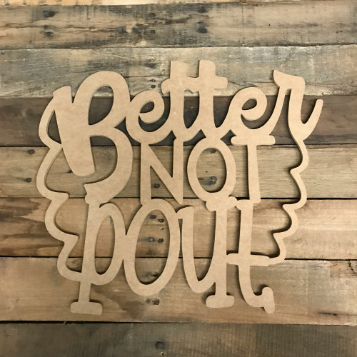 Christmas Word, Better Not Pout, Alphabet Paintable DIY