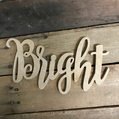Bright Word, Unfinished Shape, Alphabet Paintable DIY