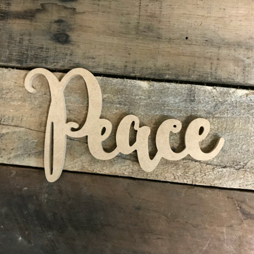 Peace Word, Unfinished Shape, Alphabet Paintable DIY