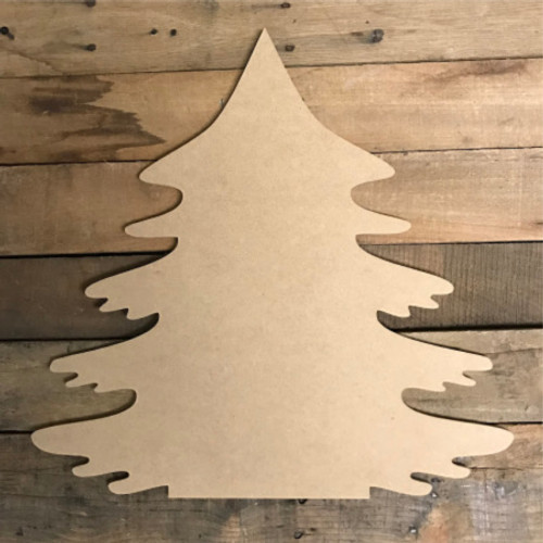 Christmas Tree, Paintable Shape, Unfinished Cutout, Craft Wood Shape