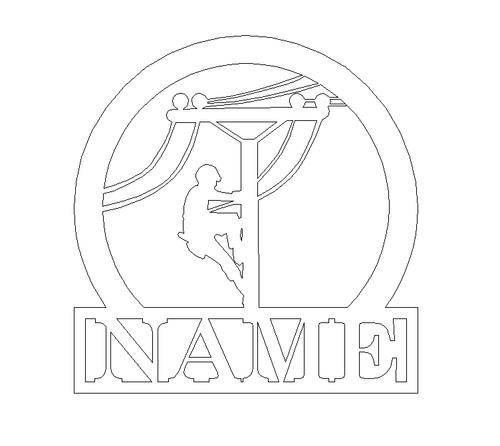 Line Man Frame Family Name, Unfinished Framed Monogram