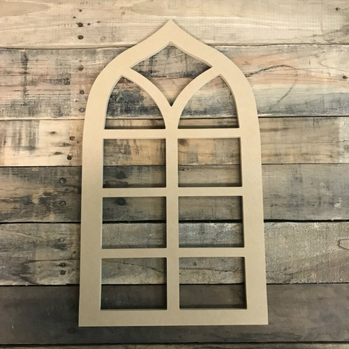 Wall Decor Cathedral Arch Window Decor,  Wooden Cutout Craft