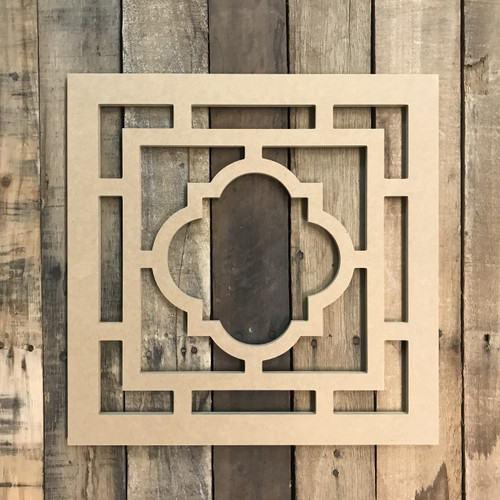 Unpainted Wood Cathedral Arch Window Decor,  Wooden Cutout Craft
