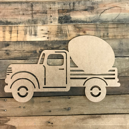Truck with Egg Cutout Unfinished Wooden Cutout Craft