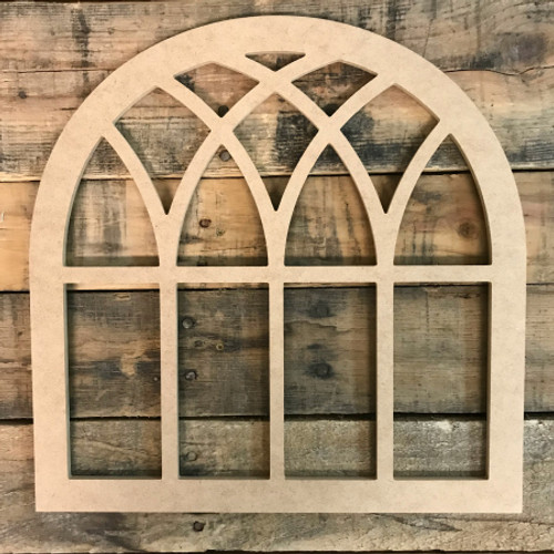 Wood Cathedral Arch Window Decor,  Wooden Cutout Craft