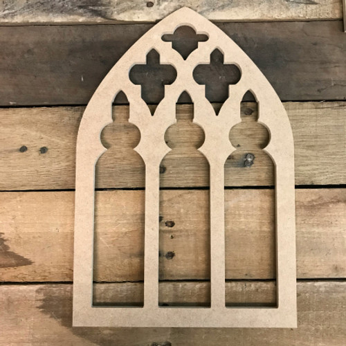 Wall Decor Wooden Cathedral Arch Window Decor,  Wooden Cutout Craft