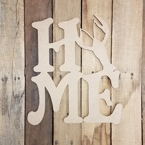 Home with Crawfish Sign Wall Art Wooden DIY Craft MDF