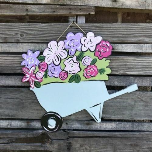 Tutorial Wheelbarrow with Flowers