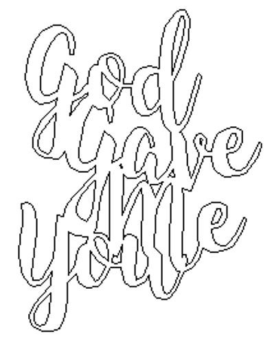God Gave Me You Unfinished Word Cutout, Wooden Shape, MDF DIY