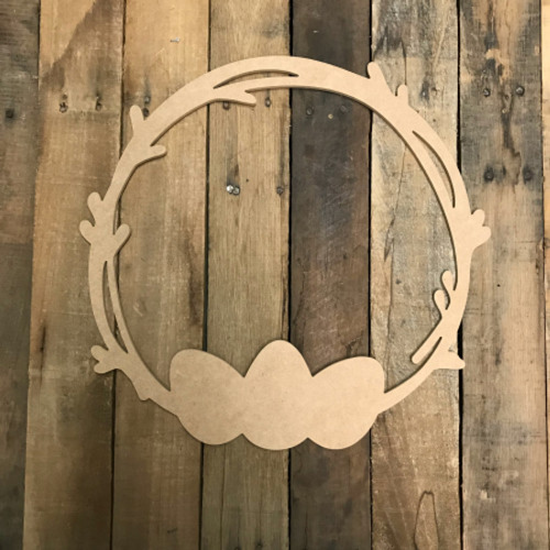 Easter Wreath  Cutout Unfinished Wooden Cutout Craft