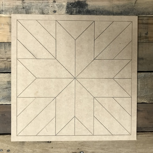 Quilt Pattern 8 DIY, Unfinished Wood Cutout, Paint by Line